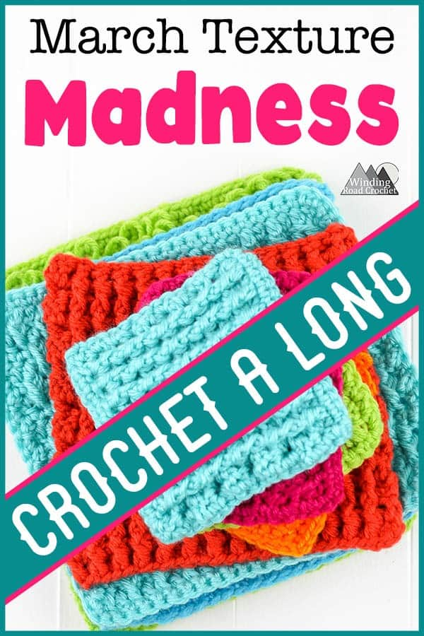 Learn to crochet beautiful texture stitches in the March Texture Madness Crochet A Long