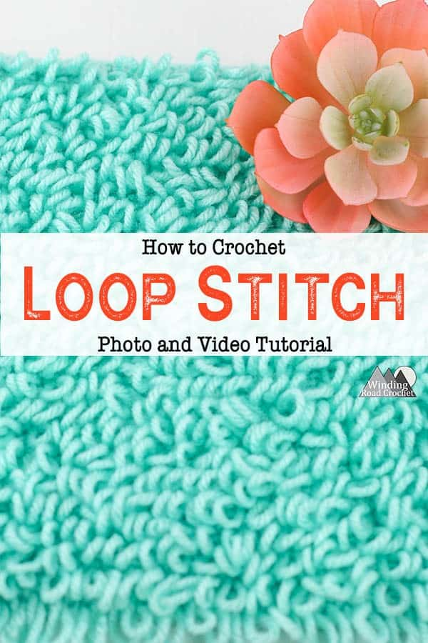 The crochet loop stitch is a beautiful stitch that makes loops while crocheting a fabric. Follow the video to photo tutorial to learn this unique crochet stitch. #crochetstitch #stitchtutorial