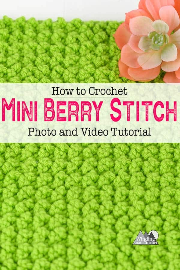 Learn to crochet the mini berry stitch with this easy video tutorial. #crochetstitch #crochettexture