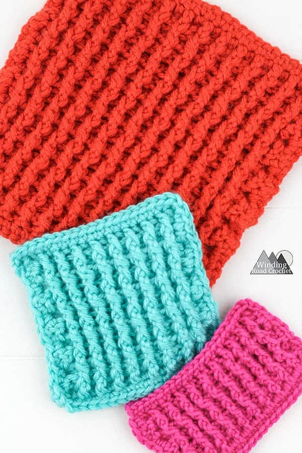 Learn to crochet the single rib stitch with this video tutorial and photo tutorial. The single rib stitch is a wonderful thick textured stitch that can be used for hat brims or blankets. Learn to crochet around the edge of your work to create a single crochet border. #crochetstitch #crochetutorial