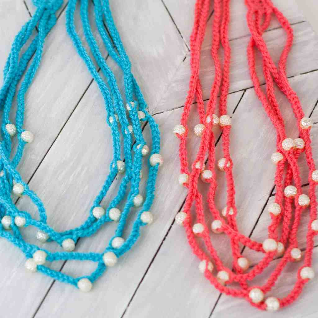 crochet Bohemian necklace