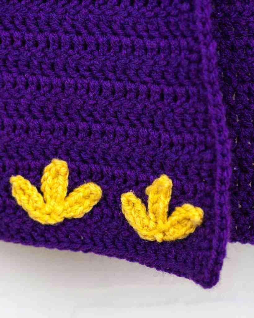crochet cape flower motif