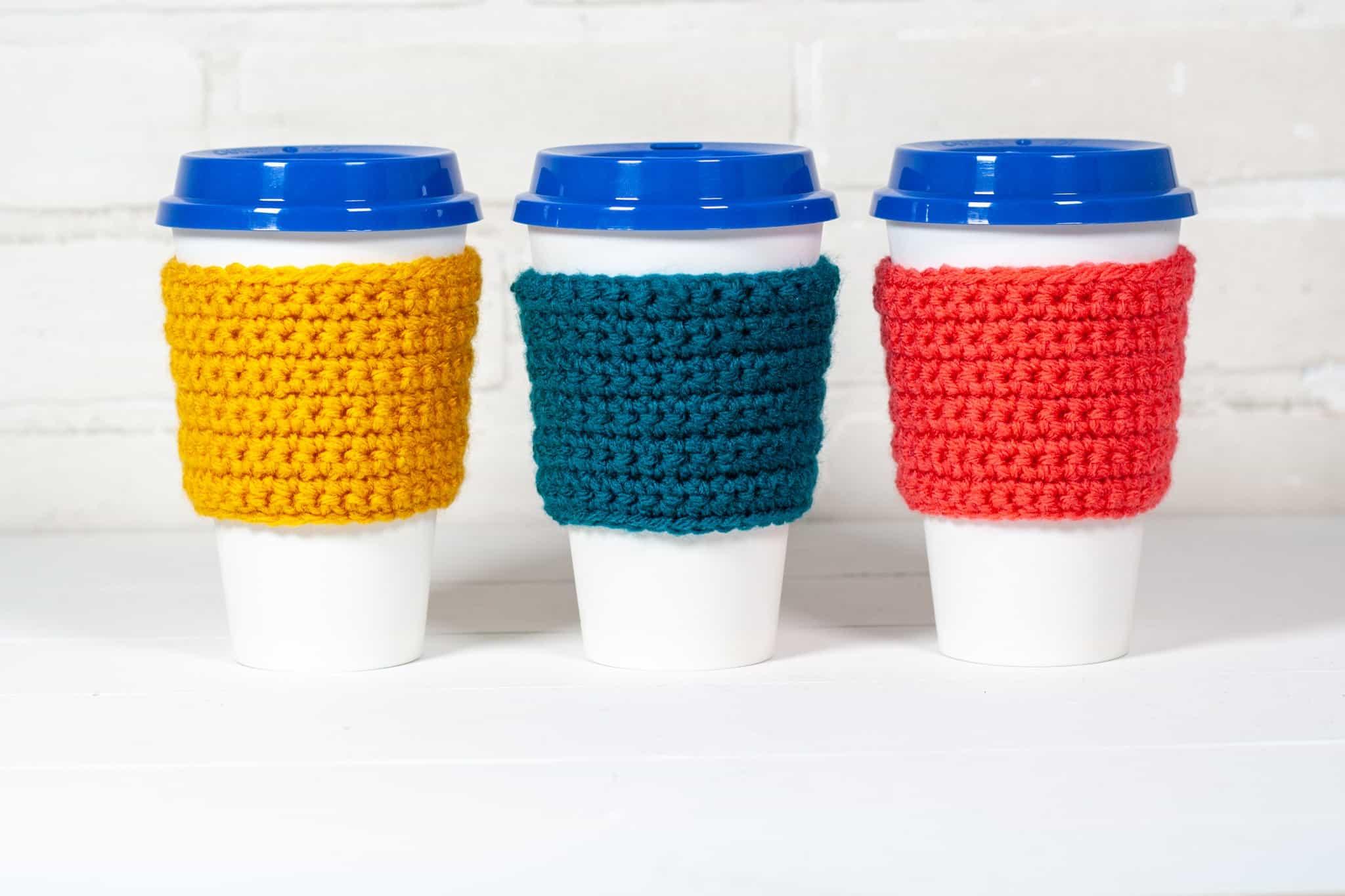 beginner crochet coffee cozy pattern