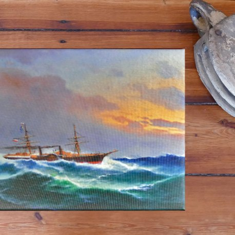 Kunstdruck Dampfer Johanna