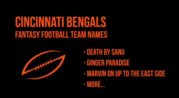 2018 Cincinnati Bengals Fantasy Football Team Names