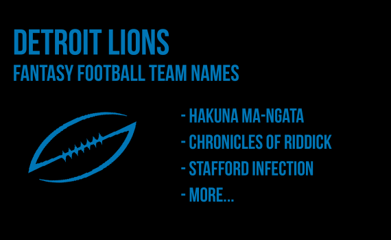 Detroit Lions Fantasy Football Names