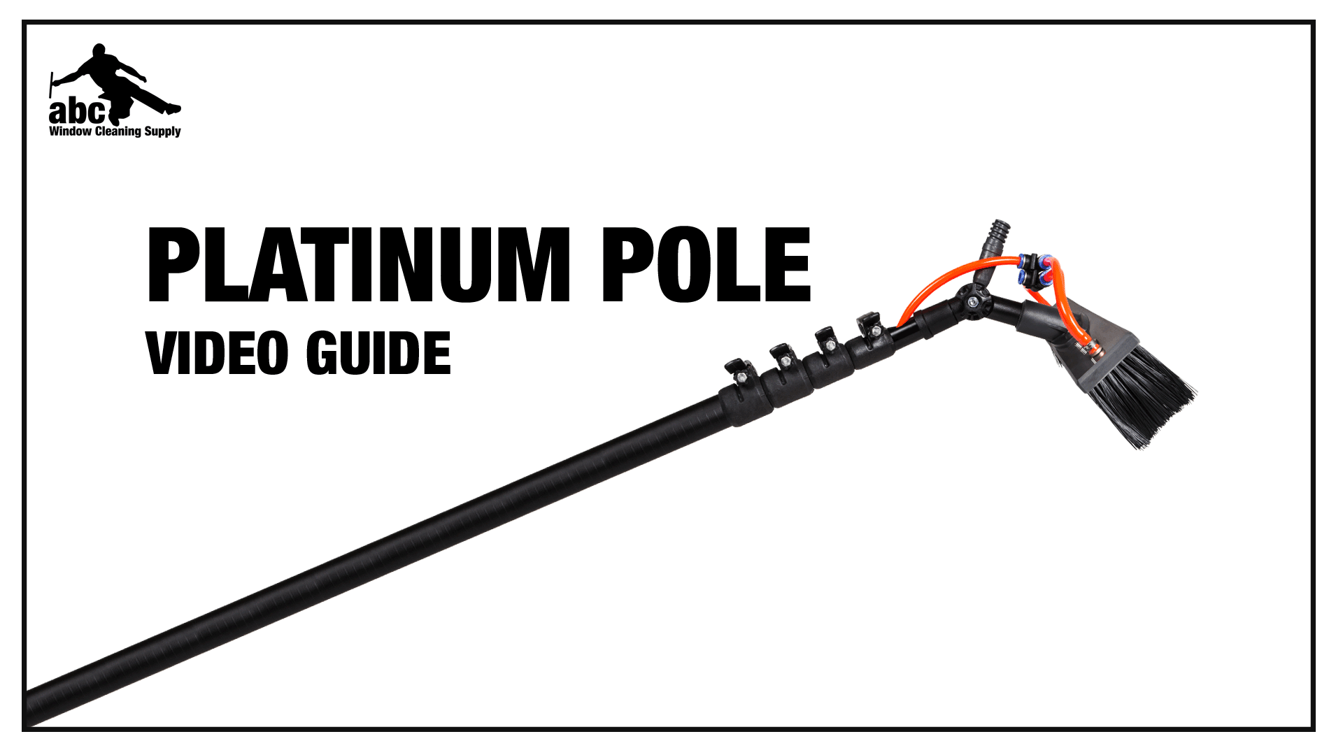 High Modulus Carbon Fiber Triple Crown Platinum Waterfed Pole
