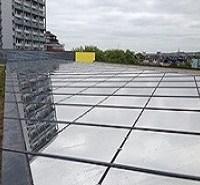 Silver 20 external window film on glass roof