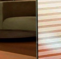 double striped etched window film