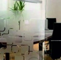 retro etched square window film