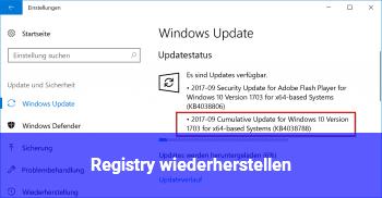 Registry Wiederherstellen Windows 10 Net