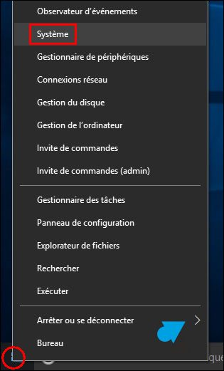 tutoriel Windows 10 menu Demarrer Systeme