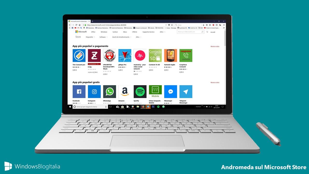Andromeda sul Microsoft Store