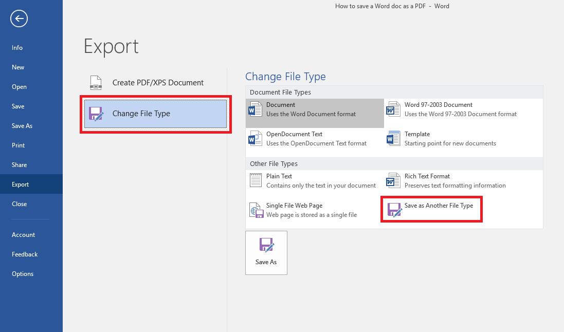Save Screen Microsoft Word