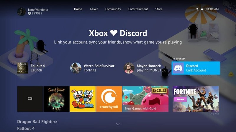 Discord and Xbox have limited integration