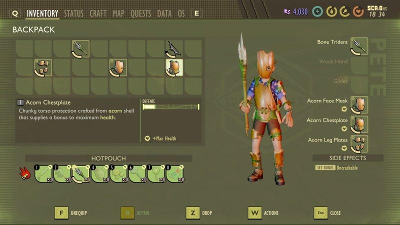 Grounded Acorn Armor Set