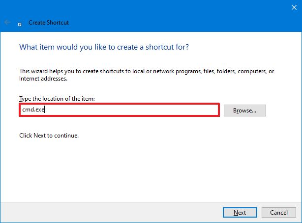 Cmdexe Createshortcut Windows