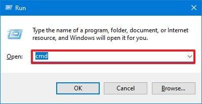 Run dialog open Command Prompt (standard)