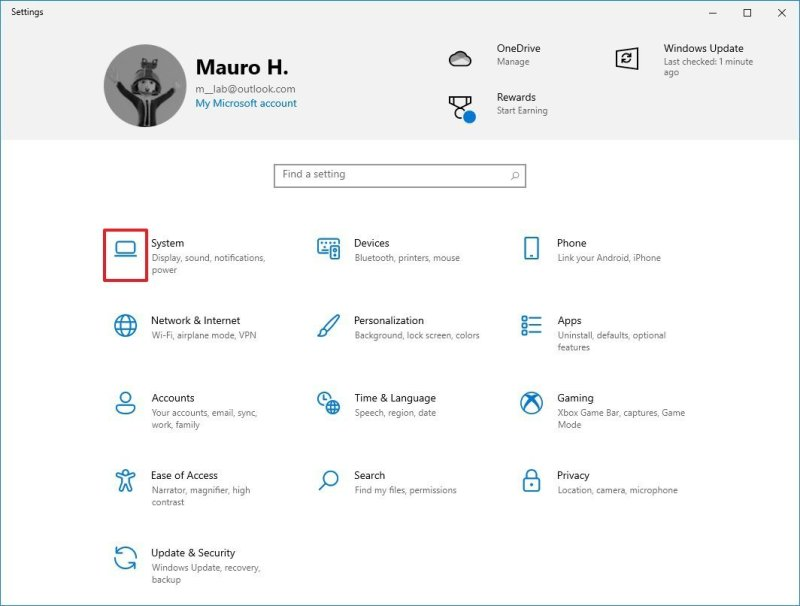 Windows 10 Settings app new icons