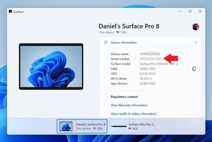 Surface App Serial