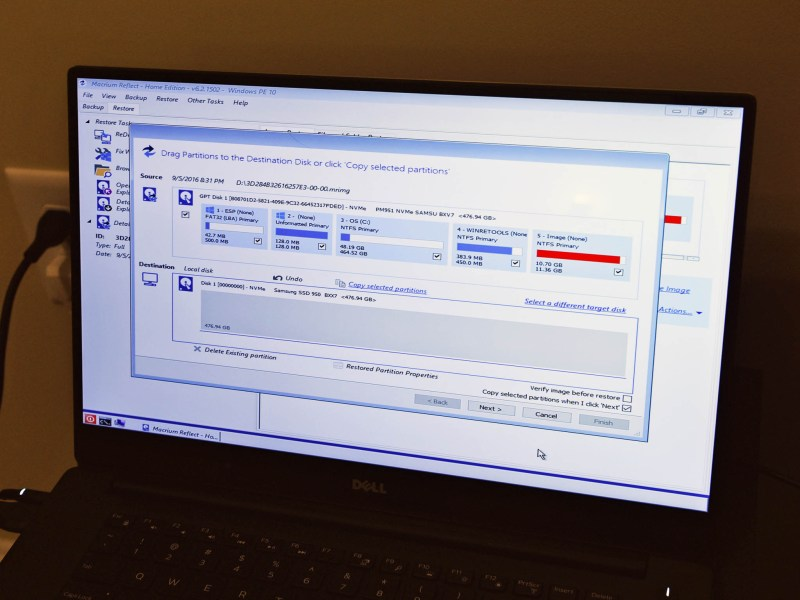 Use Macrium Reflect to clone your hard drive