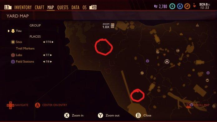 Grounded Map Stinkbug Locations Li