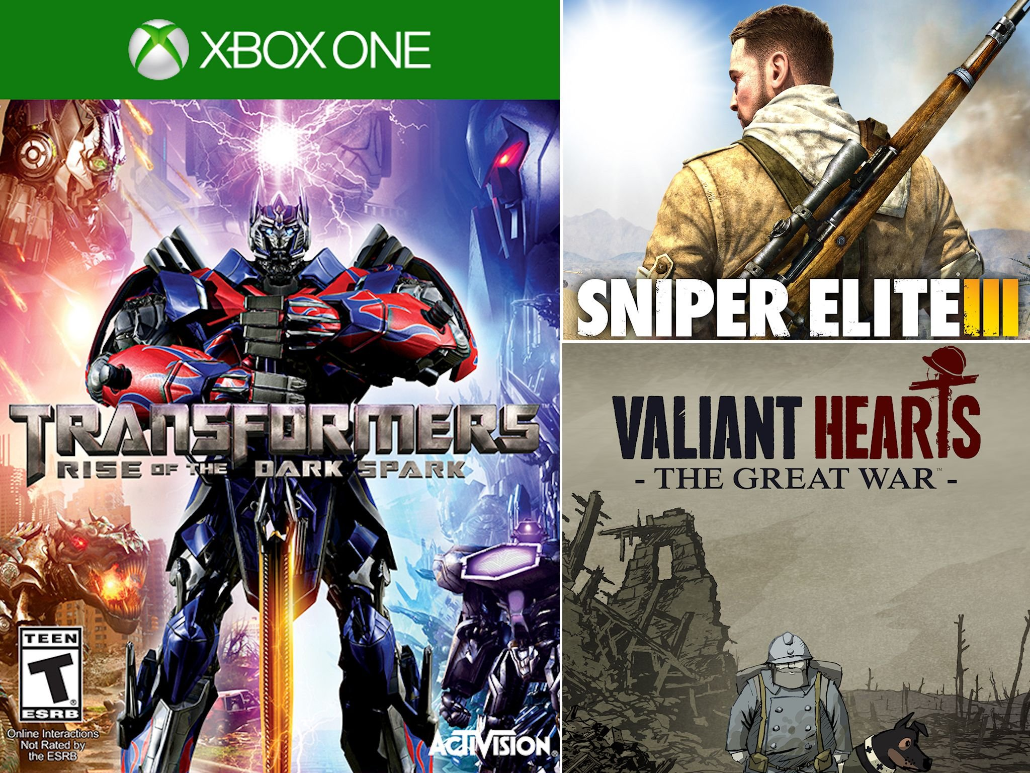 Transformers Sniper Elite III And Valiant Hearts Come To