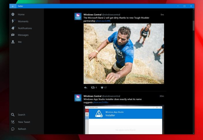 Twitter for Windows 10 PCs and tablets gets its own dark theme