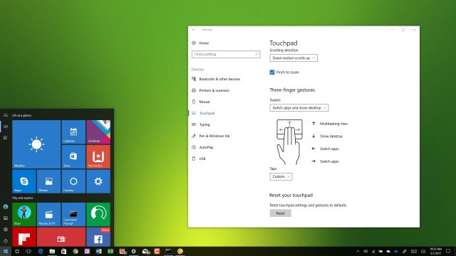 %name Windows 10 allows you to Customize your Precision Touchpad settings