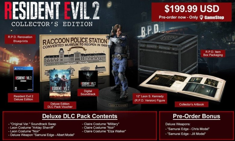 Image result for resident evil 2 collector's edition