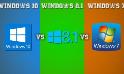 Windows 10 VS Windows 7 vs Windows 8