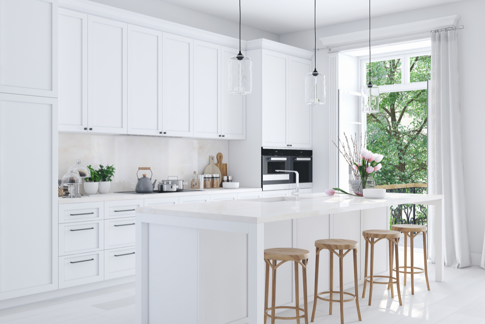 Kansas City Kitchen Design White Tile Windows Floors Decor