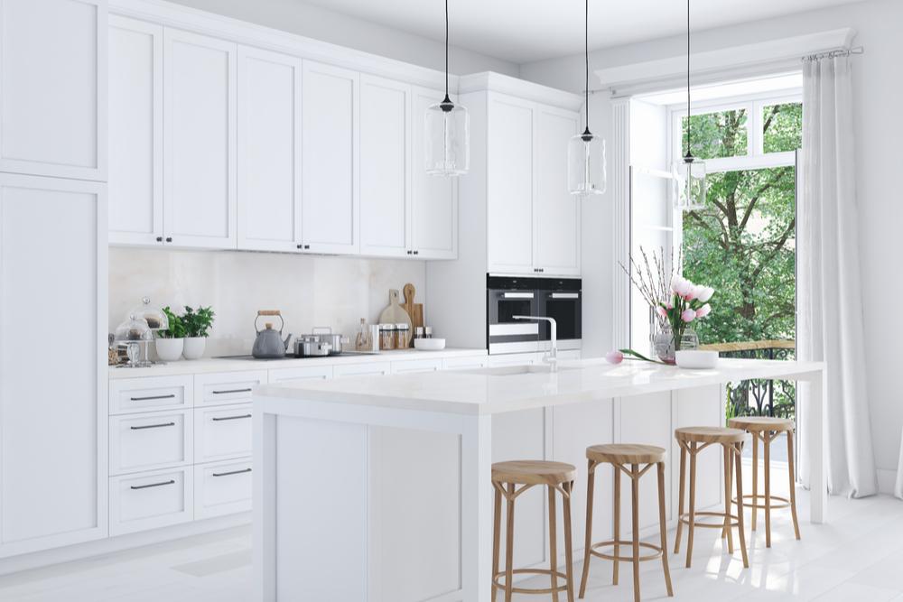 Kansas City Kitchen Design White Tile Windows Floors Decor
