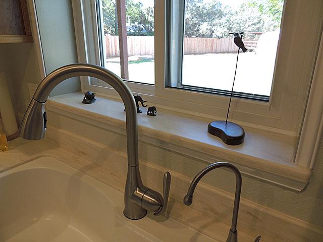 Corian Witch Hazel Kitchen Sill Installed Above Sink