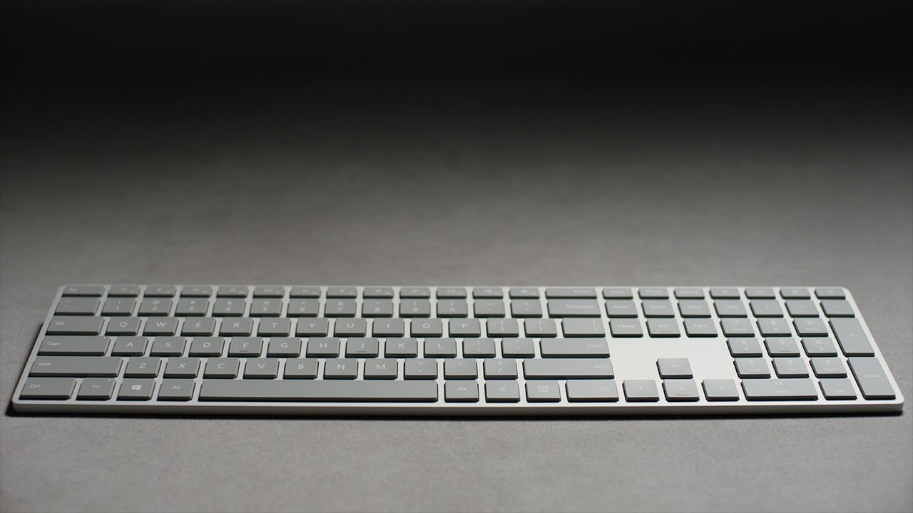Microsoft's new Modern Keyboard has an integrated fingerprint reader
