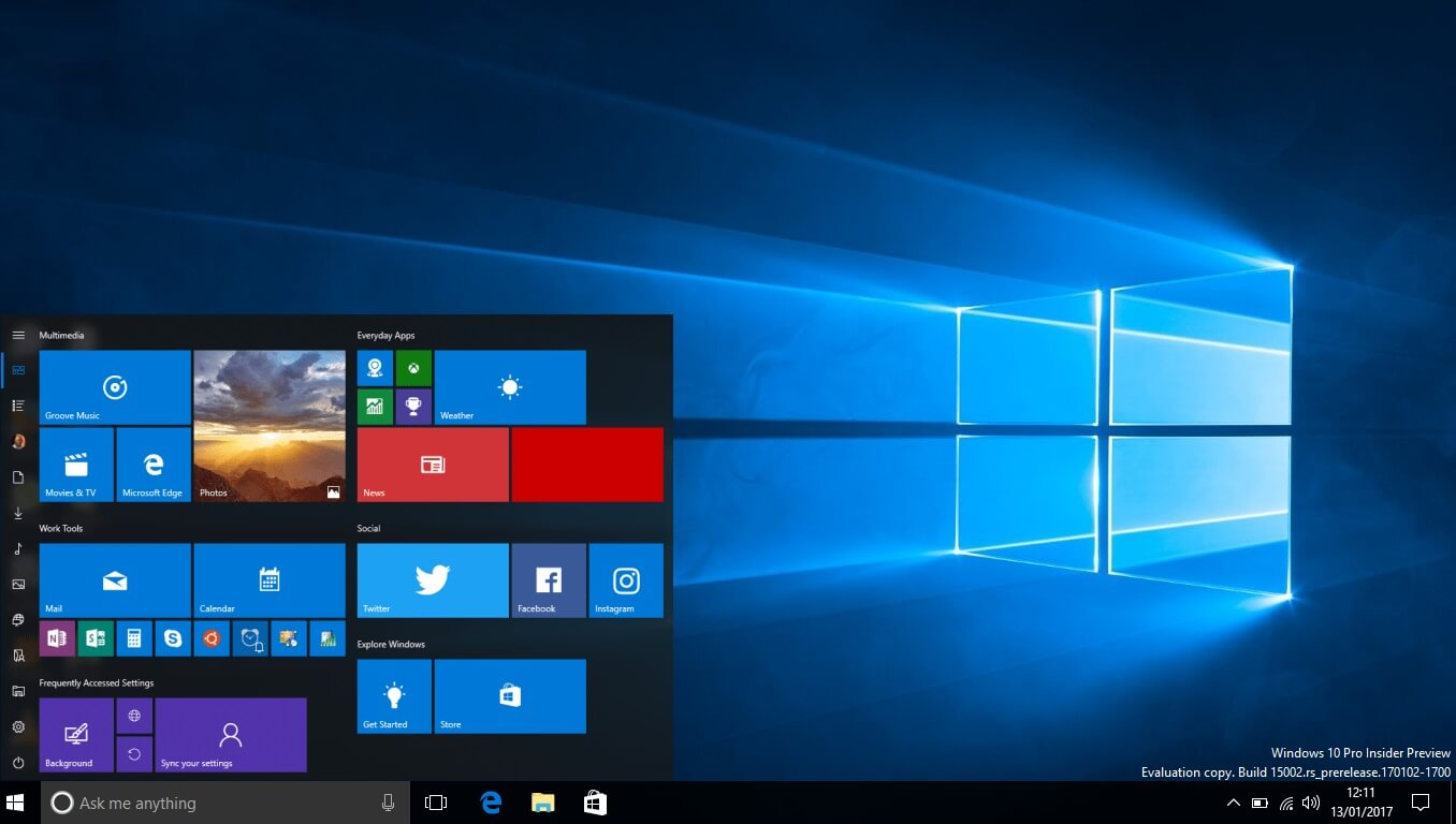 Technology Management Image: Windows 10 Build 16251 Is Now Available For Download With