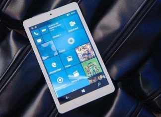 Cube Windows 10 Mobile tab