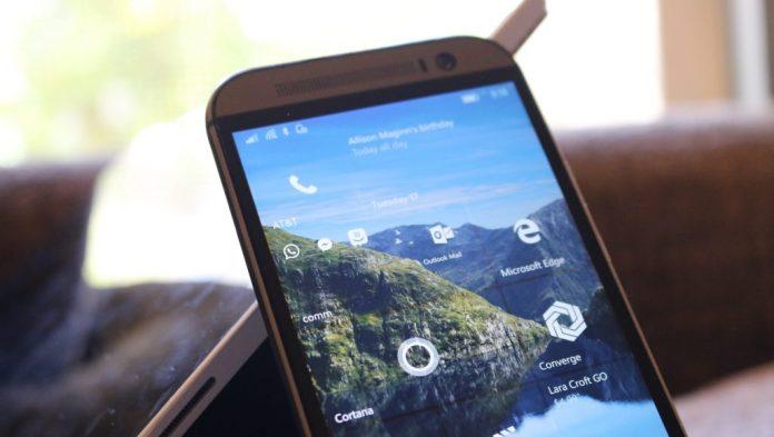Microsoft Edge on start screen in Windows 10 Mobile