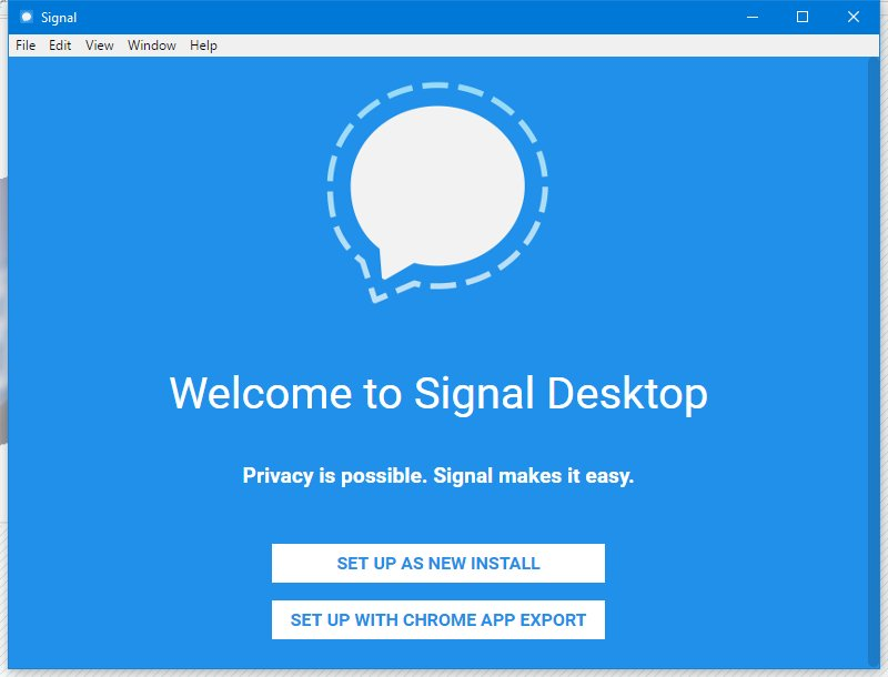 Signal IM service now available for Windows Desktop users