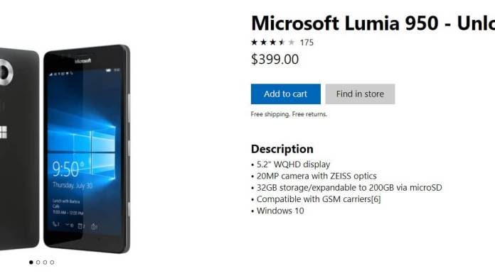 Microsoft Lumia at Store