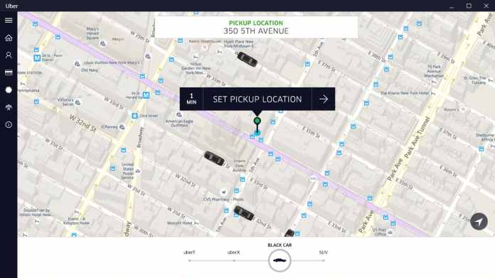 Uber for Windows 10