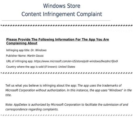 Windows app removal