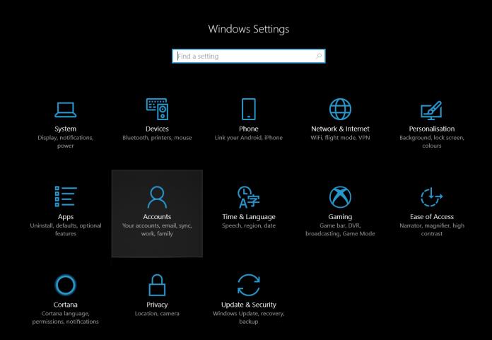 Windows Settings