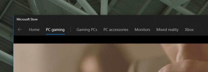 Microsoft Store header