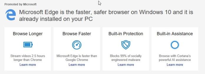 Microsoft Edge ad
