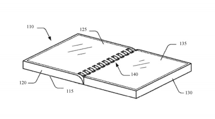Microsoft paent for foldable display