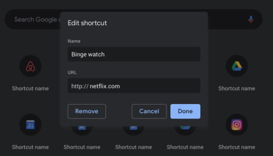 Chrome shortcuts