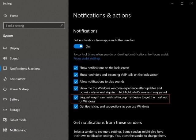 Windows 10 post upgrade prompt