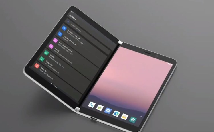 It's the Surface Duo: an articulated iPad mini and Android 10 with the software like a big unknown
