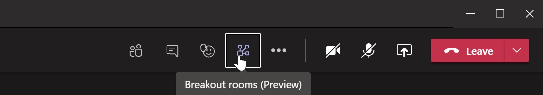 Breakout rooms feature